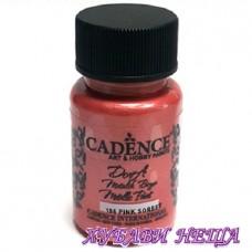 Боя за рисуване CADENCE Dora металик - розов шербет, 50мл.