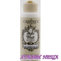 "CADENCE STYLE MATT - Бял ""Floral White"" 120ml"
