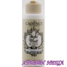 "CADENCE STYLE MATT - Бял ""Floral White"" 120ml"