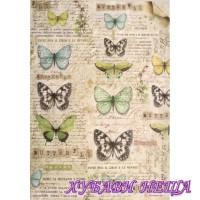 Оризова хартия, А4- DFSA4178- Пеперуда