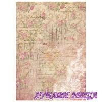 Оризова хартия, А4- DFSA4209- Buds and lace