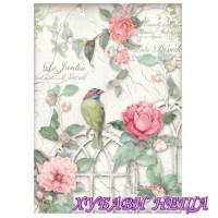 Оризова хартия, А4- DFSA4210- Порта с птица