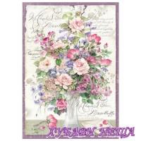 Оризова хартия, А4- DFSA4211- Ваза с цветя
