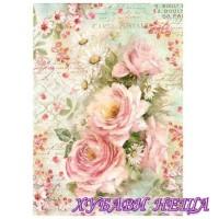 Оризова хартия, А4- DFSA4223- Roses and daisies