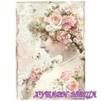 Оризова хартия, А4- DFSA4224- Floreal profile roses