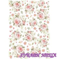 Оризова хартия, А4- DFSA4226- Рози