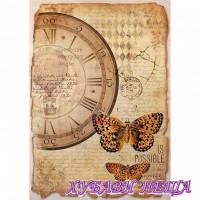 Оризова хартия, А4- DFSA4241- Clock & Butterfly