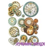 Оризова хартия, А4- DFSA4242- Gearwheels and clock