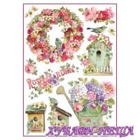 Оризова хартия, А4- DFSA4274- Rose Garden