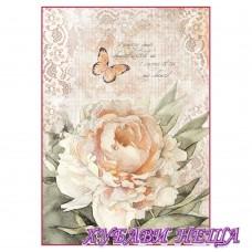 Оризова хартия, А4- DFSA4278- Vintage rose and laces