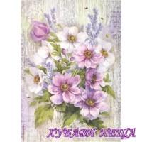Оризова хартия, А4- DFSA4279- Purple Bouquet