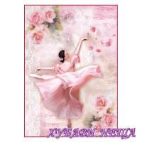 Оризова хартия, А4- DFSA4308- Dancer with petals