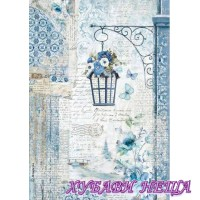 Оризова хартия, А4- DFSA4336- Blue Land lamp