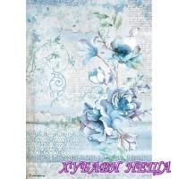 Оризова хартия, А4- DFSA4337- Blue Land flower