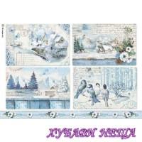 Оризова хартия, А4- DFSA4339- Blue Land landscapes