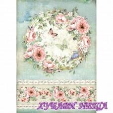 Оризова хартия, А4- Рози и пеперуда DFSA4445