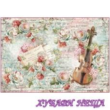 Оризова хартия- DFS372 48x33см.- Roses and Violin