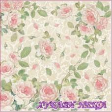 Stamperia оризова хартия 14г/м2 50x50см.- Рози с дантела