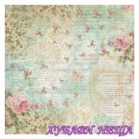 Оризова хартия-DFT304 50x50см.- Roses and writings