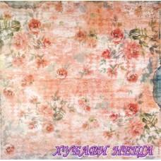 Оризова хартия-DFT318 50x50см.- Roses Pink Background