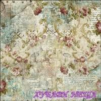 Оризова хартия-DFT327 50x50см.- Time is an Illusion Floral Texture