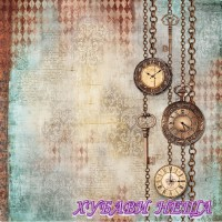 Оризова хартия-DFT338 50x50см.- Clockwise chains with clocks and keys