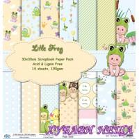 Дизайнерско блокче 30x30 Little Frog- 14листа