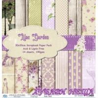 Дизайнерско блокче 30x30 Lilac Garden- 14листа