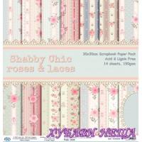 Дизайнерско блокче 30x30 Shabby Chic Roses and Laces- 14листа