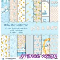 Дизайнерско блокче 30x30 Baby Boy Collection- 14листа