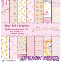 Дизайнерско блокче 30x30 Baby Girl Collection- 14листа