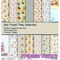 Дизайнерско блокче 30x30 Sea Travel Time Collection- 14листа