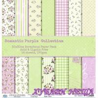 Дизайнерско блокче 30x30 Romantic Purple Collection- 14листа