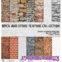 Дизайнерско блокче 30x30 Brick and Stone Texture Collection- 14листа