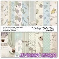 Дизайнерско блокче 30,5x30,5 Vintage Baby Boy 16л