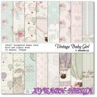 Дизайнерско блокче 30,5x30,5 Vintage Baby Girl 16л