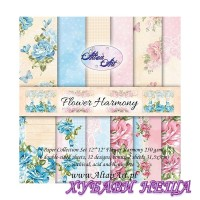 Дизайнерско блокче 12x12'' Flower Harmony  6л двустр