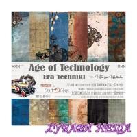 Дизайнерско блокче 12x12'' Age of Technology  6л. двустр.