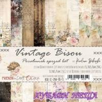 Дизайнерско блокче 6x6'' Vintage Bisou  18л. двустр.