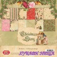 Дизайнерско блокче 12x12'' Christmas Story 12л двустр