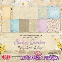 Дизайнерско блокче 12x12'' CPB-SG30- Spring Garden 12л.- двустр.
