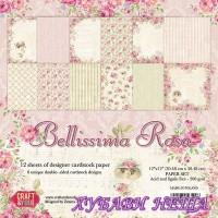 Дизайнерско блокче 12x12'' Beautiful Rose 12л двустр