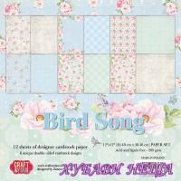 Дизайнерско блокче 12x12'' CPS-BS30- Bird Song 12л.- двустр.