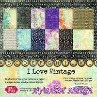 Дизайнерско блокче 12x12'' CPS-ILV30- I Love Vintage 12л.- двустр.