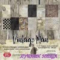 Дизайнерско блокче 12x12'' Vintage Man 12л двустр