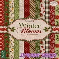 Дизайнерско блокче 12 x 12'' Winter Blooms- 36л