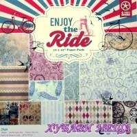 """Дизайнерско блокче 12 х 12""""- Enjoy the Ride- 24 листа"""