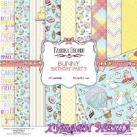 Дизайнерско блокче 30,5x30,5 Bunny Birthday Party 10л. едностр.