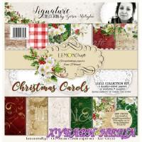 """Дизайнерско блокче 12x12""""- Christmas Carols 6 л. двустр"""