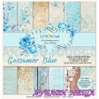"""Дизайнерско блокче 12x12""""- Gossamer Blue 6 л. двустр"""